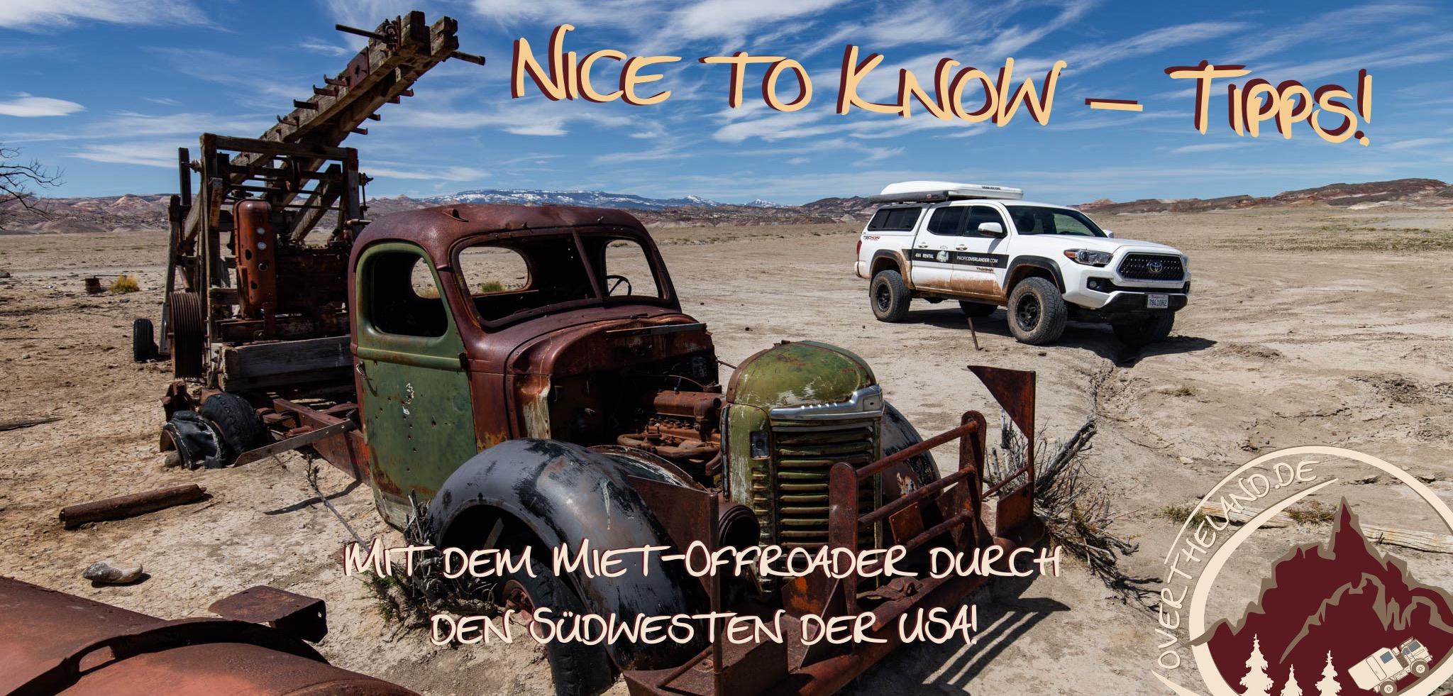 Nice to know – Tipps für den eigenen Trip in den Südwesten der USA